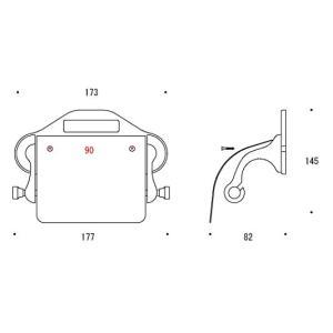 ペーパーホルダー トイレットペーパーホルダー(真鍮 トイレペーパーホルダー)(中央差しタイプ):g-6g4033k0-ki|kagami|02