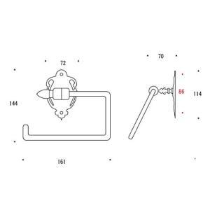 ペーパーホルダー トイレットペーパーホルダー(真鍮 アイアン トイレペーパーホルダー ロールペーパーホルダー)|kagami|02