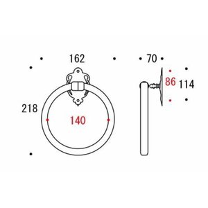 タオルリング タオル掛け(タオルハンガー タオルかけ タオルラック アンティーク 真鍮) kagami 02