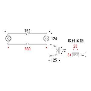 タオルハンガー タオルかけ タオル掛け(真鍮 アイアン 洗面所 トイレ おしゃれ キッチン)|kagami|03