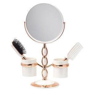 拡大鏡 両面鏡 卓上鏡 スタンドミラー(鏡 ミラー  卓上 化粧鏡 スタンド 卓上) (普通鏡 拡大鏡5倍 両面鏡)(角度調節可):GdS10066dA kagami
