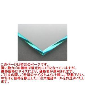 ガラス 板ガラス(長方形 正方形)国産の硝子 板硝子(板厚10ミリ) 糸面取り加工(面取り幅1〜2ミリ)
