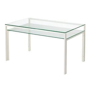 ガラステーブル、ガラス テーブル、テーブル ガラス、ダイニングテーブル、リビングテーブル、オフィステーブル(天板、棚板:透明ガラス)|kagami