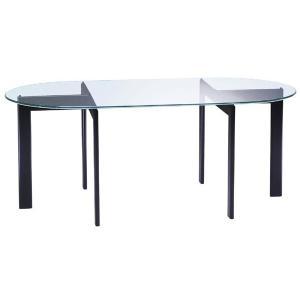ガラステーブル、ガラス テーブル、テーブル ガラス、ダイニングテーブル、リビングテーブル、オフィステーブル(黒・黒色・ブラック、白・白色・ホワイト)|kagami