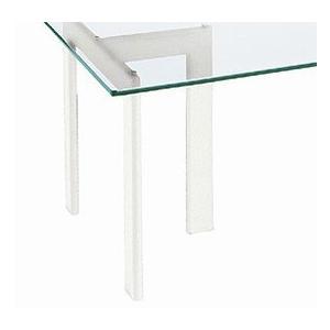ガラステーブル、ガラス テーブル、テーブル ガラス、ダイニングテーブル、リビングテーブル、オフィステーブル(白・白色・ホワイト、黒・黒色・ブラック) kagami 02