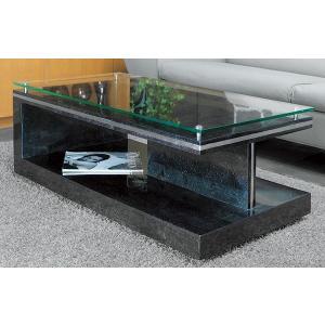 ガラステーブル、ガラス テーブル、テーブル ガラス、リビングテーブル、センターテーブル、ローテーブル(黒・黒色・ブラック) kagami