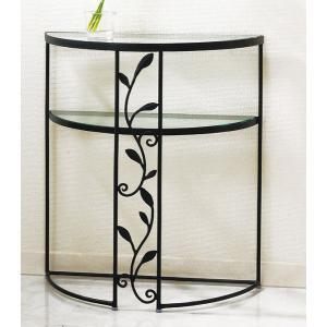ガラステーブル、ガラス テーブル、テーブル ガラス、コンソールテーブル、コンソール テーブル、テーブル コンソール(黒・黒色・ブラック) kagami