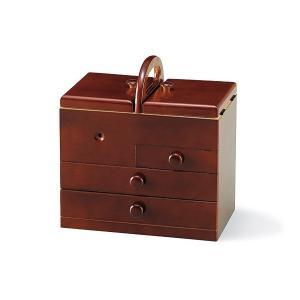 裁縫箱 ソーイングボックス 裁縫 箱 ボックス かわいい セット 和洋裁道具 洋裁道具 洋裁道具入れ 和洋裁道具入れ 収納家具 木製 和 :h6734d|kagami