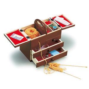 裁縫箱 ソーイングボックス 裁縫 箱 ボックス かわいい セット 和洋裁道具 洋裁道具 洋裁道具入れ 和洋裁道具入れ 収納家具 木製 和 :h6734d|kagami|02