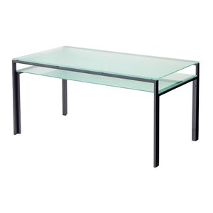 ハイテーブル、ハイ テーブル、リビングテーブル、ガラステーブル、ガラス テーブル、テーブル ガラス((天板、棚板:フロストガラス)|kagami