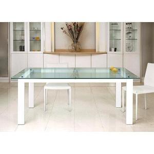ハイテーブル、ハイ テーブル、リビングテーブル、ガラステーブル、ガラス テーブル、テーブル ガラス(白・白色・ホワイト)|kagami