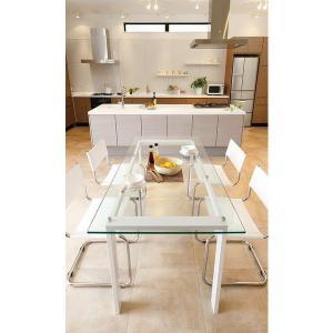 ハイテーブル、ハイ テーブル、リビングテーブル、ガラステーブル、ガラス テーブル、テーブル ガラス(白・白色・ホワイト)|kagami|02