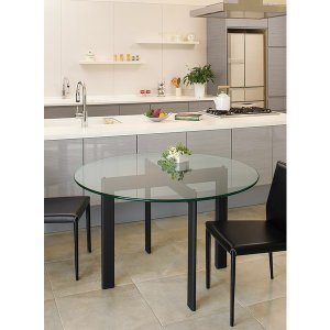 ハイテーブル、ハイ テーブル、リビングテーブル、ガラステーブル、ガラス テーブル、テーブル ガラス(黒・黒色・ブラック、白・白色・ホワイト)|kagami