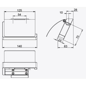 ペーパーホルダー トイレ  トイレットペーパーホルダー トイレペーパーホルダー(1連 カウンター用)(左右勝手兼用)(W140mm x D113mm):HR-Rr193c5-ki|kagami|03