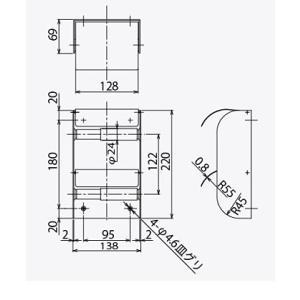 2連 ダブル ペーパーホルダー トイレットペーパーホルダー (トイレペーパーホルダー ロールペーパーホルダー)(タテ 2連):HR-Rr3115-c2-ki kagami 03