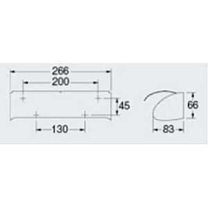 2連 ダブル ペーパーホルダー トイレットペーパーホルダー (トイレペーパーホルダー ロールペーパーホルダー)(ヨコ2連):K-203-010d-ki|kagami|02