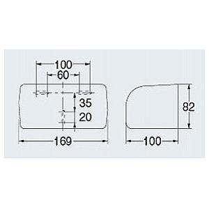 ペーパーホルダー トイレットペーパーホルダー( トイレペーパーホルダー ロールペーパーホルダー)(1連 ワンタッチ仕様)(アイボリー):K-2045C-Exd-ki|kagami|02
