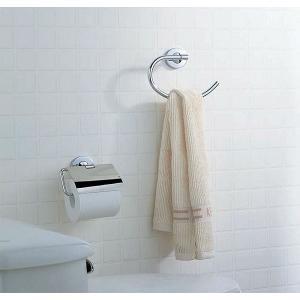 タオルリング タオル掛け タオルハンガー タオルかけ タオルラック アイアン 洗面所 トイレ おしゃれ(クローム仕上げ):KoN4-SA150XoC|kagami|02