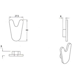 鏡・ミラー取り付け金具、デザイン金具(ビクトリー)(V型):McBa-victory|kagami|02