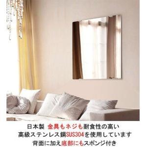 鏡・ミラー取り付け金具(ミラーハンガー)(金具もネジも耐食性の高い高級ステンレス鋼SUS304):Mh-L kagami 03