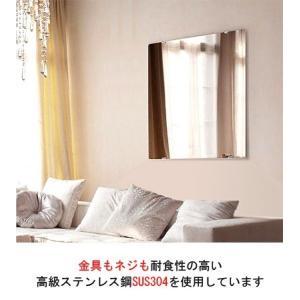 鏡・ミラー取り付け金具(ミラーハンガー)(小)(金具もネジも耐食性の高い高級ステンレス鋼SUS304)10セット(お買い得10セット):Mh-S x10|kagami|03