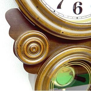 時計 クロック 掛け時計 掛時計 壁掛け時計  (ボンボン時計 時打ち だるま時計)(アンティーク、レトロなデザイン)(振り子時計) :QsL68t7|kagami|03