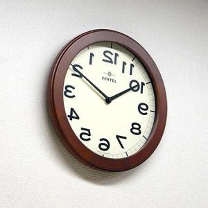 時計 クロック 掛け時計 掛時計 壁掛け時計(逆転時計、脳トレ!理髪店や美容室にもお勧め)(ブラウン色):QsL88t9BR|kagami|03