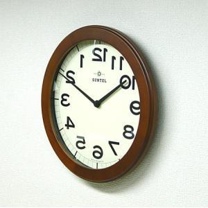 時計 クロック 掛け時計 掛時計 壁掛け時計(逆転時計、脳トレ!理髪店や美容室にもお勧め)(ブラウン色):QsL88t9BR|kagami|04