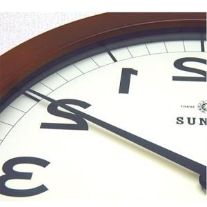 時計 クロック 掛け時計 掛時計 壁掛け時計(逆転時計、脳トレ!理髪店や美容室にもお勧め)(ブラウン色):QsL88t9BR|kagami|05