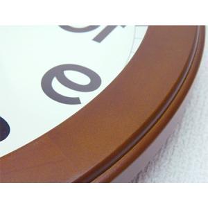 時計 クロック 掛け時計 掛時計 壁掛け時計(逆転時計、脳トレ!理髪店や美容室にもお勧め)(ブラウン色):QsL88t9BR|kagami|06