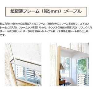 割れない鏡 割れないミラー リフェクス リフェクスミラー フィルムミラー 鏡 ミラー 壁掛け鏡 姿見 姿見鏡 (特注サイズ): RjM-42/50x100-m5|kagami|03