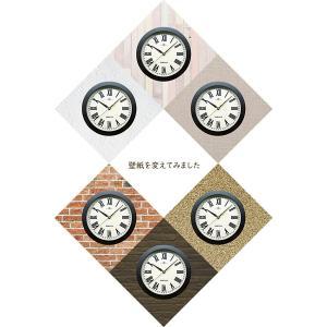 掛時計、掛け時計、壁掛け時計、時計 壁掛け、ウオールクロック(連続秒針、静音、スイープ、スイープムーブメント スイープ秒針 静か) :rzbsSsR0t3DBR-R|kagami|04