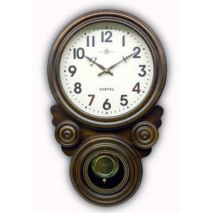 時計 クロック 掛け時計 掛時計 壁掛け時計 (ボンボン時計 時打ち だるま時計)(アンティーク、レトロなデザイン)(振り子時計)(アラビア文字):SsQ0t1A kagami