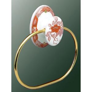 タオルリング タオル掛け(タオルハンガー タオルかけ タオルラック おしゃれ 陶器 磁器 陶磁器) kagami 02