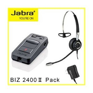 Jabra(ジャブラ) BIZ 2400 II Pack ヘッドセット 2402-850 電話用オールインワン  【国内正規代理店品】|kagaoffice