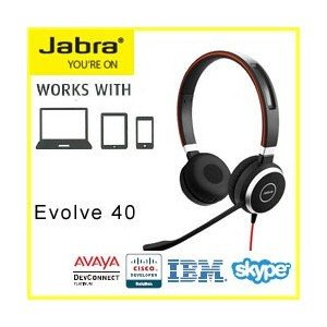 GN JABRA EVOLVE 40 UC Stereo USB ヘッドセット 6399-829-2...