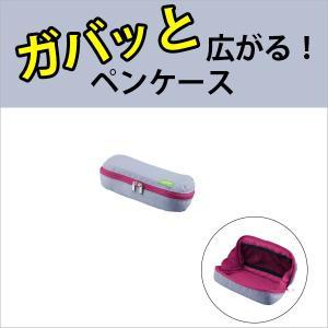 コクヨ KOKUYO ペンケース<シェルブロ> F-VBF190-3 グレー×ピンク