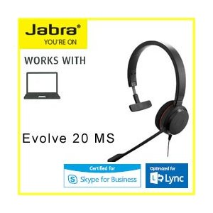 GN JABRA EVOLVE 20 MS Mono USB ヘッドセット 4993-823-109...