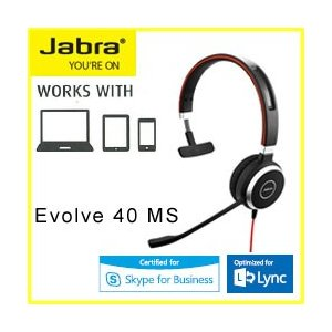 GN JABRA EVOLVE 40 MS Mono USB ヘッドセット 6393-823-109...