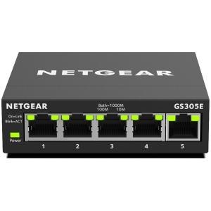 NETGEAR GS305E ギガビット5ポート アンマネージプラス・スイッチ GS305E-100...