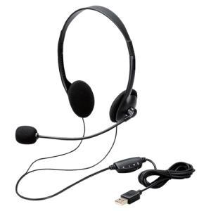 エレコム ヘッドセット/両耳/USB/簡易パッケージ HS-102UBK|kagasys