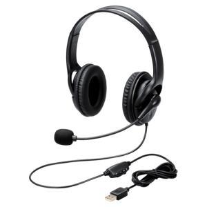 エレコム ヘッドセット/両耳/USB/簡易パッケージ HS-103UBK|kagasys