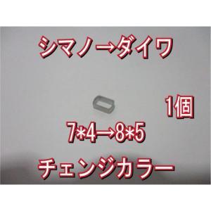 送込 [1個] シマノ → ダイワ ハンドル ナット径 チェンジ カラー 7*5→8*5穴 アダプター 香川塩ビ工業 スペーサー アダプタ アジャスタ