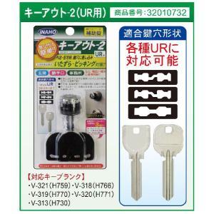 防犯グッズ 玄関 鍵穴カバー式補助錠 キーアウト-2 MIWA UR用|kaginokuraya
