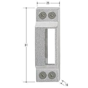 エスカッション 面付用ストライクボックス ノブ調整取付部品|kaginokuraya