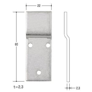 エスカッション 取付ステー ノブ取付調整部品(10個入り)|kaginokuraya
