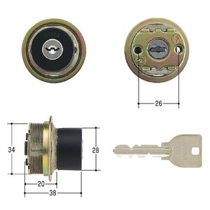 美和ロック/MIWA 鍵 U9 TE0 BK(ブラック)|kaginokuraya