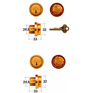 SHOWA 鍵 8451・8115・8110・8112・25mm 両面 kaginokuraya