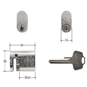WEST 鍵 #1050S #1060S 小判型片面 |kaginokuraya