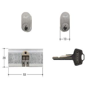 WEST 鍵 #1050 #1060 小判型両面 |kaginokuraya
